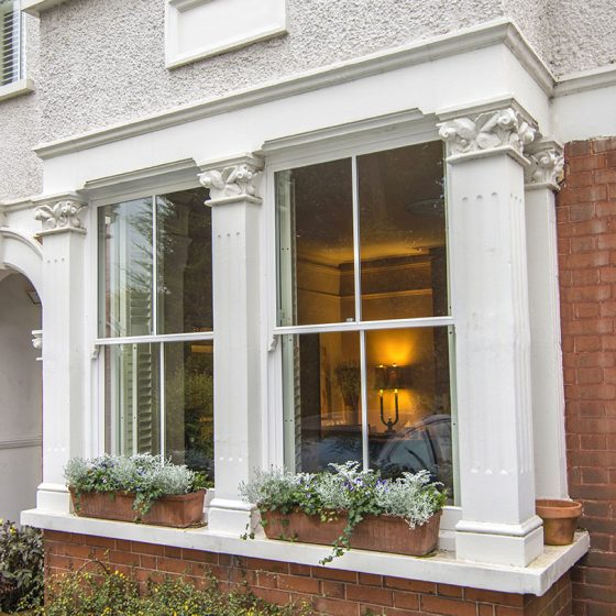 Outside shot of Sash Windows.