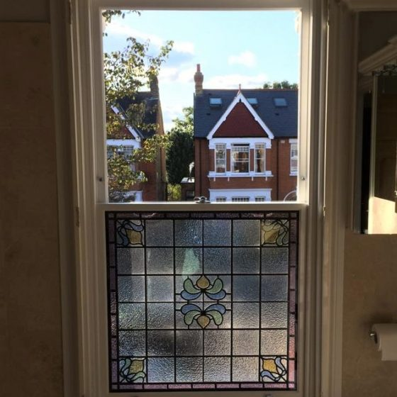 Bathroom stained glass – 7 Colebrooke