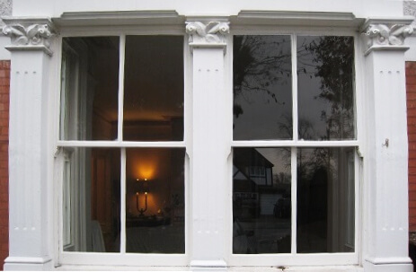 Timber hardwood double glazed sash windows