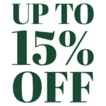 Up to 15 percent off