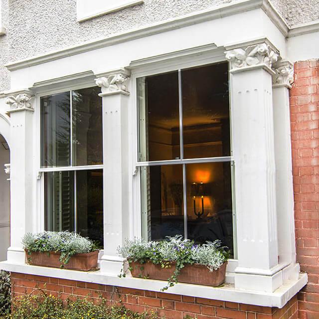 Victorian house with sash windows